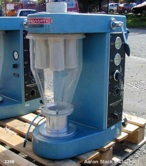 Used- Aeromatic Strea 1 Fluid Bed Dryer, Polycarbonate product cylinder, volume 3.17 gallon (12 litre), nominal batch capaci...