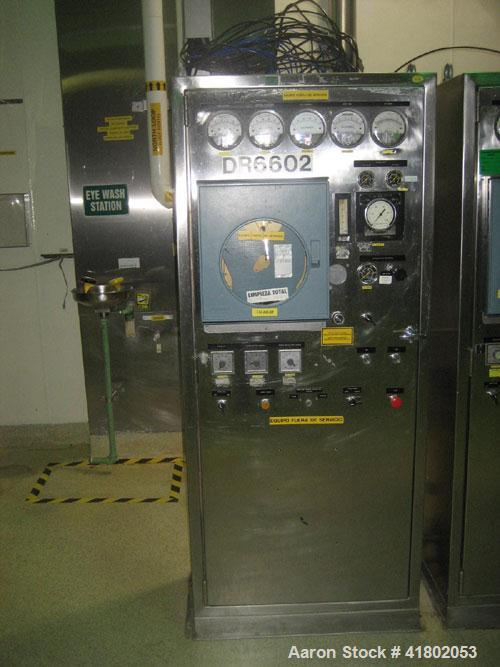 Used- Aeromatic Batch Fluid Bed Dryer, Model T-9 3110, stainless steel. Rated 261,000 kcal/hr, with blower, air handling uni...