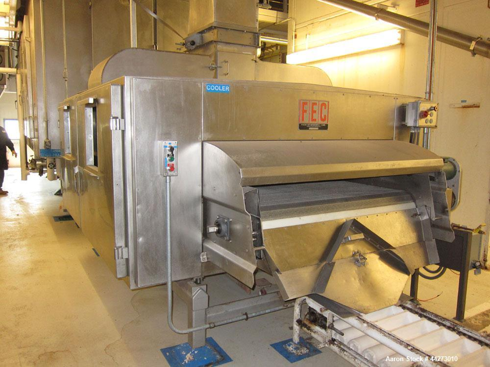 Used-FES Approximate 60'' Wide x approximate 27 ft long Rehydrator with approximate 10 ft cooler