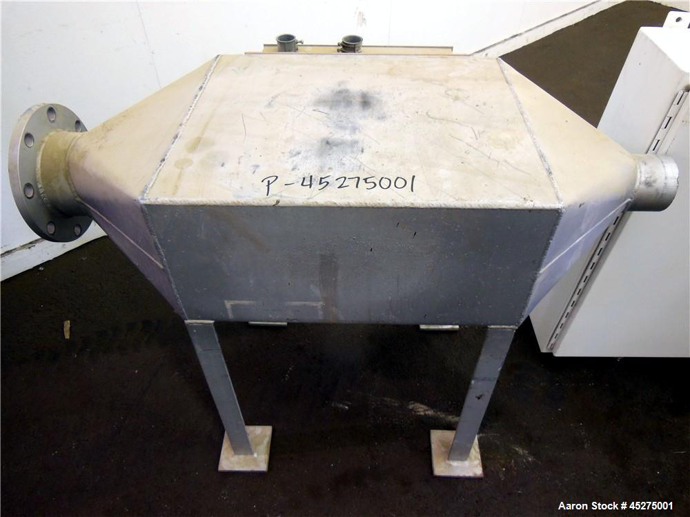 Used- Carbon Steel Dynamic Air Forberg Twin Shaft Fluidizer, 4.2 Cubic Feet, Model F-120XE