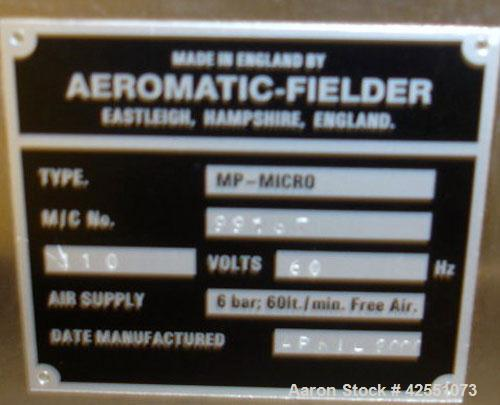 Used- GEA Aeromatic Fielder Lab Fluid Bed Dryer/ Granulator, Model MP-Micro. Approximate batch capacity 20g-200g (.02-.2 kg)...