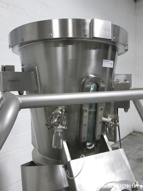 "Used- Glatt 18"" HS Wurster Insert. 316L Stainless steel construction, with expansion chamber and self dumping bowl with cyli..."