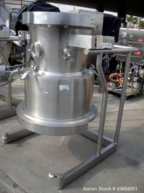 Used- Glatt 125 liter top spray bowl for GPCG-30.
