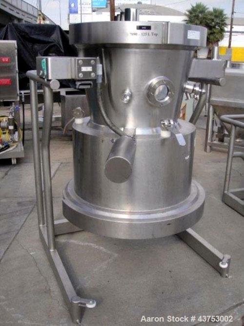 Used- Glatt 125 Liter Top Spray Bowl For A Model GPCG-30
