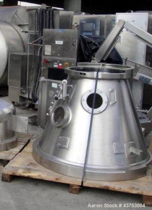 Used- 68 Liter/125 Liter Glatt Top Spray Bowl Expansion Chamber For Model GPCG-30