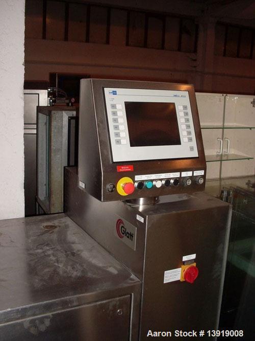 Used-Glatt GPCG 3 Fluid Bed Dryer/Granulator.  Stainless steel construction, explosion proof, 95.7 psi pressure shock resist...