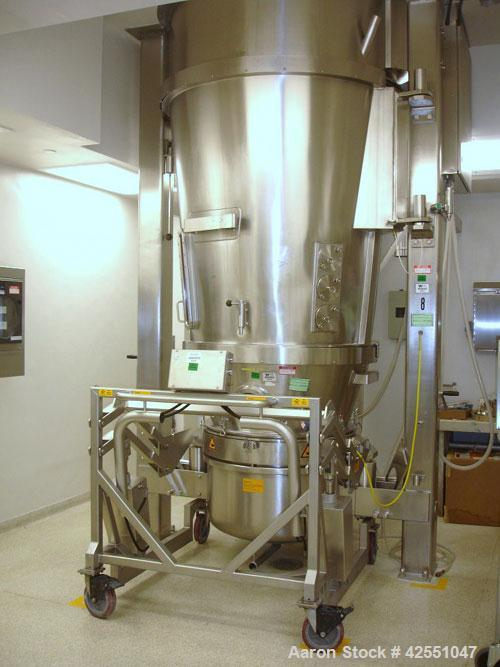 Used- Glatt Fluid Bed Dryer, Model GPCG120, Stainless Steel. 2 Bar internal shock rating, spray granulation insert with (2) ...