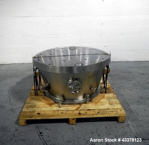 Used- Glatt LD 120 SF Bowl Inverter. Stainless steel construction designed to lift and invert 120 liter Glatt fluid bed drye...