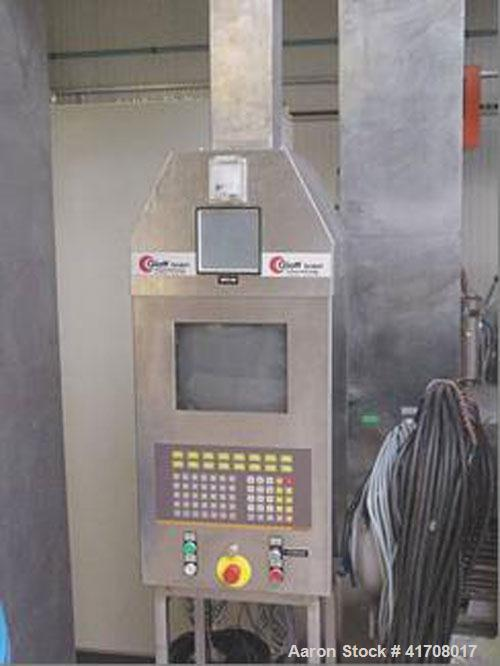 Used-Glatt WSG-15/25 Fluid Bed Dryer, stainless steel on product contact parts, batch capacity 22-55 lbs (10-25 kg), 220/380...