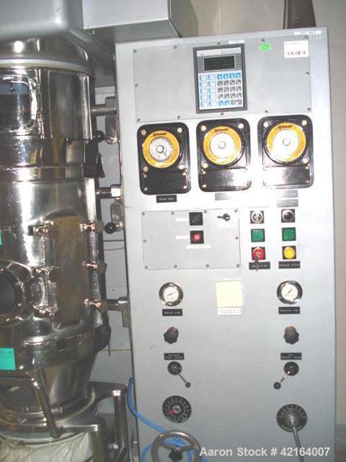 Used-Glatt WSG-15 Fluid Bed Dryer, stainless steel, capacity 33 lbs (15 kg) batch, 380V/50 hz.