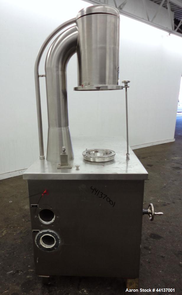 Used- Stainless Steel Glatt Granulating Fluid Bed Dryer, Model WSG-3/2V