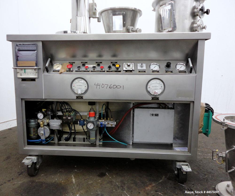 Used- Stainless Steel Glatt Granulating Fluid Bed Dryer, Model WSG-3