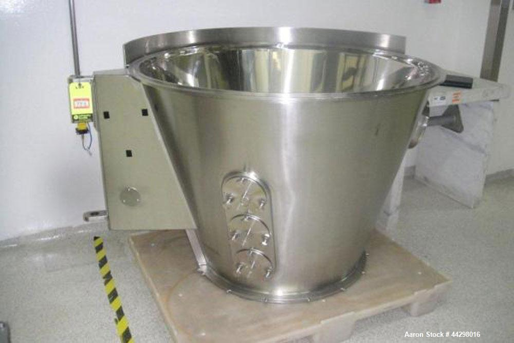 Used- Glatt Fluid Bed Dryer Granulator, Model WSG 60, stainless steel construction, 2 bar shock rating, with (2) two spray g...