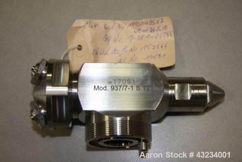 Used-Glatt WST-CD-200 Granulator, heating capacity 262 kW/hour (892,800 BTU/hour), 47 hp (37 kW), stainless steel on product...
