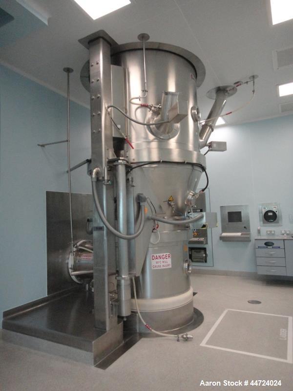 Used- Glatt Model WST500 Stainless Steel Fluid Bed Dryer