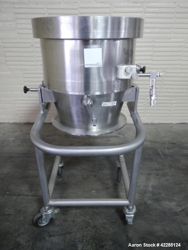 "Used- Stainless Steel Glatt 19.5"" Granulator Bowl Attachment"
