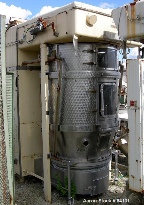 Used- Glatt Fluid Bed Dryer, Type WSG120. 316 Stainless steel construction. Working capacity 220-440 lbs (100-200 kilos) pro...