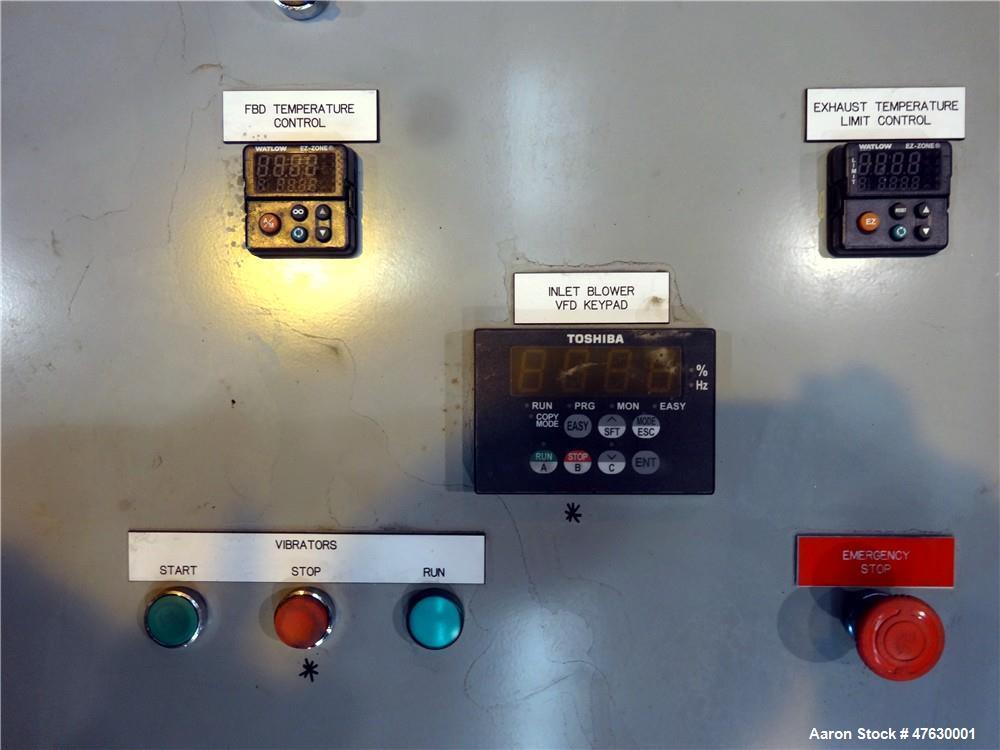 "Used- Kason 60"" Diameter Circular Vibrating Fluid Bed Dryer"