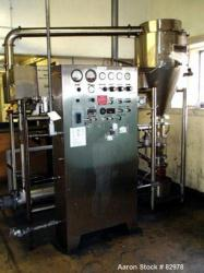 Used: Stainless Steel Ascoat Lakso Fluid Bed Wurster Coater, model 2XP HT