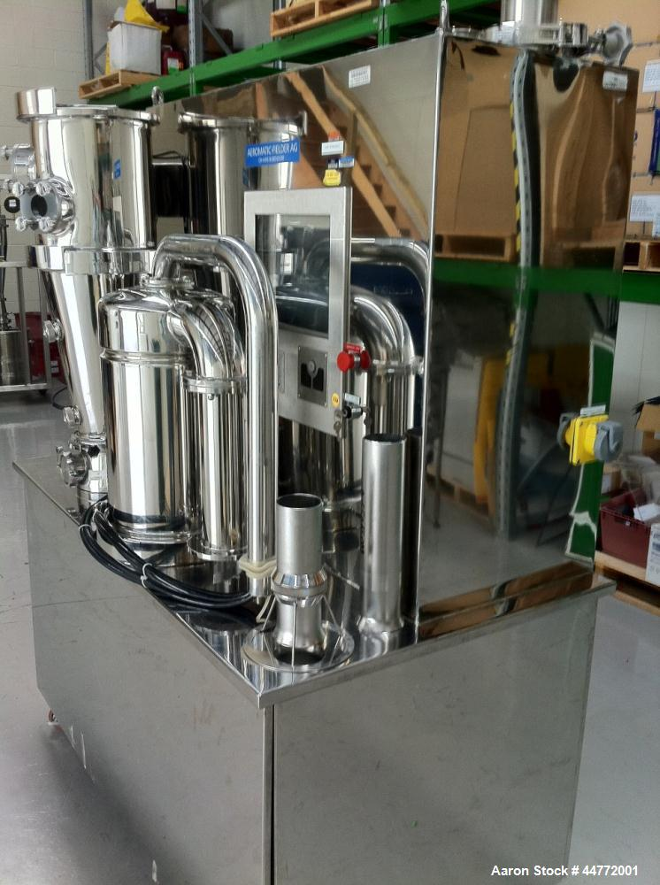 Used-Niro MP-1 Multi-Processor Fluid Bed Dryer, stainless steel construction.  Capacity from 0.5 - 6 kg of product per batch...