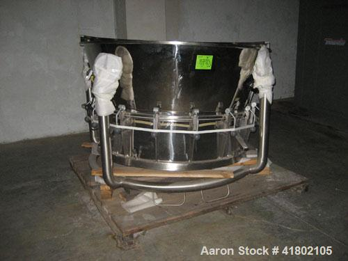 Used- Niro Fluid Bed Dryer, Model MP8, Sanitary Stainless Steel Construction. (3) Removable bowls, air handling unit system,...