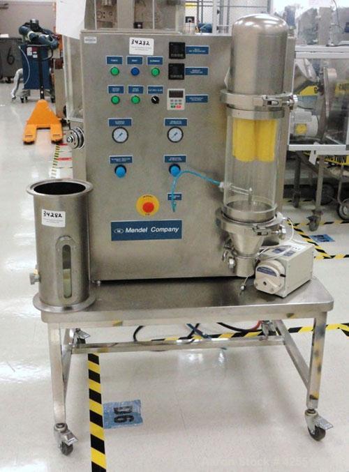 Used- Mendel Fluid Bed Dryer, Model MFB-Micro, Stainless Steel.1.3 Liter bowl, (.75) kw blower, 1 kw heater, (.05) kw pump, ...
