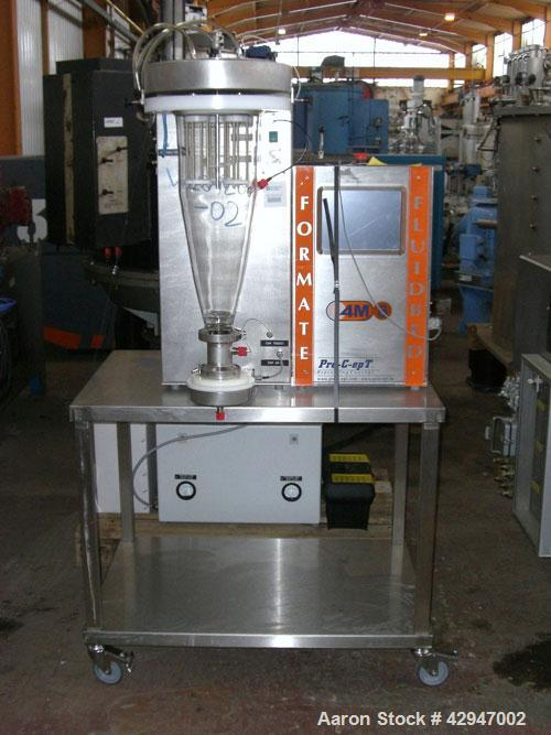 Used- Pro-C-Ept Fluid Bed Dryer/ Granulator, Model 4M8, (1) 2 Liter glass chamber, top entry dust filter and spray attachmen...