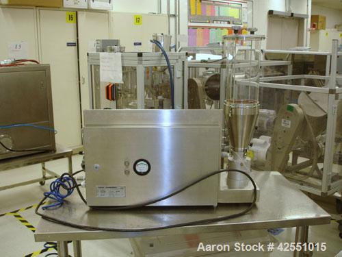 Used- Vector Lab Micro Fluid Bed Dryer, Model MFL.01. Designed for wurster coating and top spray granulation, 100-600 gram s...