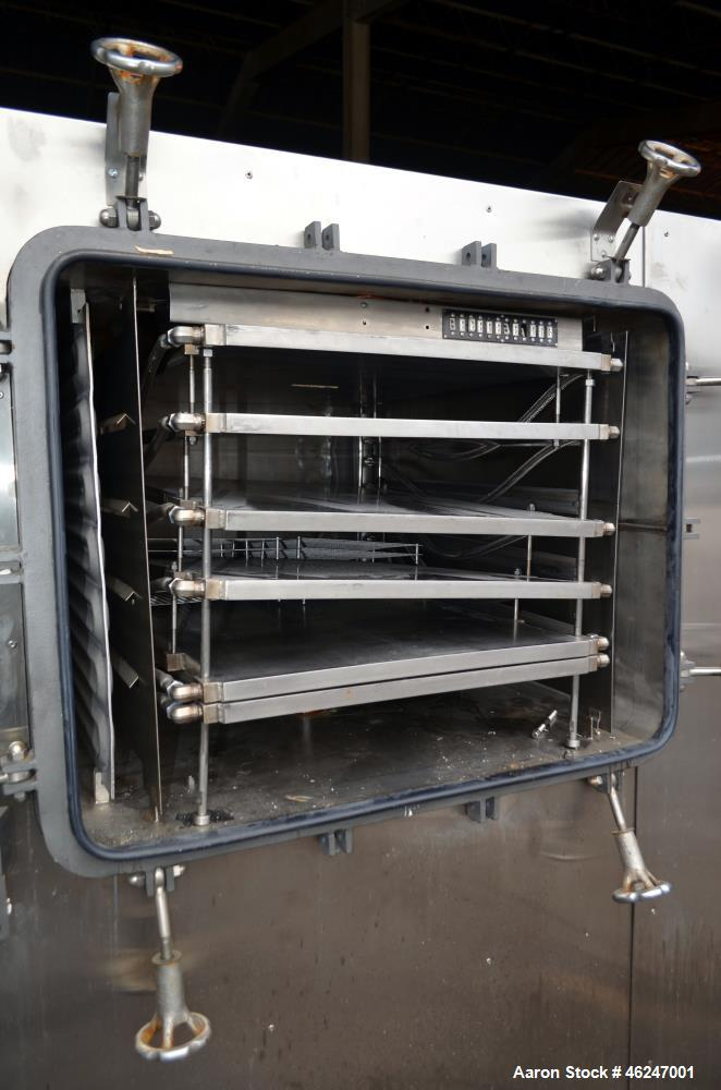 "Used- American Lyophilizer Freezer Dryer, Approximate 30 Square Feet, 304 Stainless Steel. Chamber approximate 38"" wide x 28..."