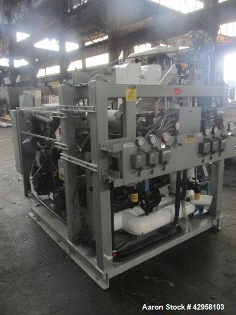 Used- Hull Lyophilizer Freeze Dryer,18 Square Feet, Model 18FXS100-SS30C. Stainless steel product contact surfaces, nominall...