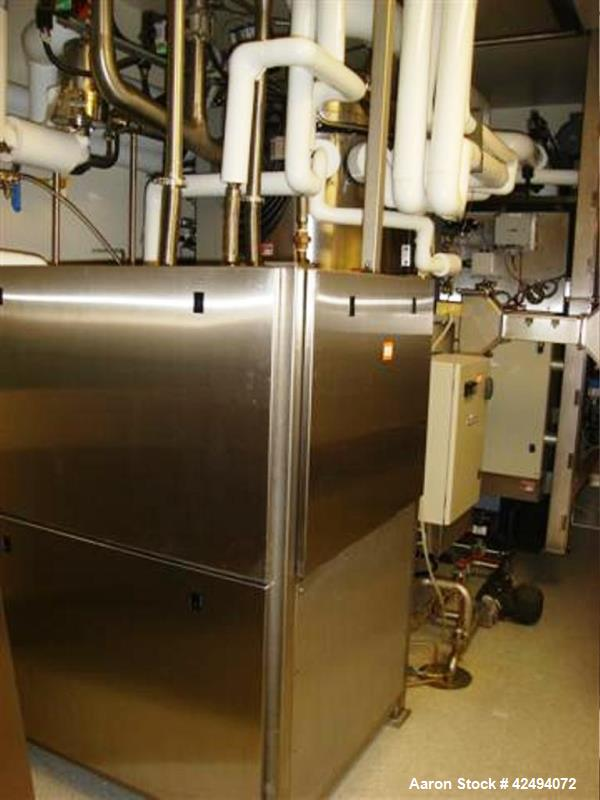 Used-Usifroid freeze dryer, 47.3 sq ft (4.4 sq meter), model SMH 440.F.PSA.BV.V.PP.S, 316L stainless steel chamber and produ...