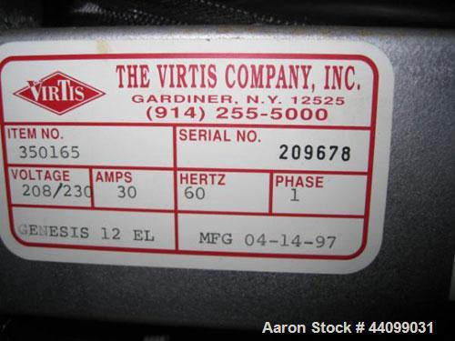 Used- Virtis Genesis Freeze Dryer, Model 12 EL