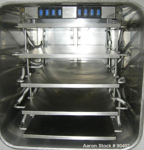 "Used- Virtis Genesis Freeze Dryer, Model 25ES, 316L Stainless Steel. Chamber measures 16"" wide x 16"" tall x 21"" deep with 5 ..."