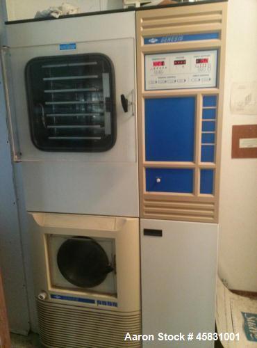 Used-Virtis Freeze Dryer, Model Genesis 25ES.  Bulk 5 shelf freeze dryer, 208/230 volts, 30 amps, 60 hz, phase 1.  Manufactu...