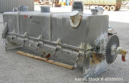 "Used- Reitz/Bepex Torus Disc Dryer, model TDJS-26-8, 304 stainless steel. Approximately 17 cubic feet working capacity. 24"" ..."