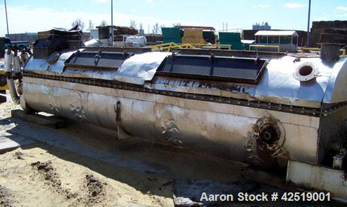 "Used-Bepex (Holoflite) Hollow Screw Dryer, twin 24"" diameter x 20' long, model TJ-24-2K3320, 304 stainless steel contacts. W..."