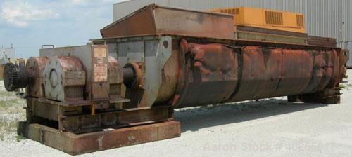 """Used- Denver Holo-Flite Processor cooler/dryer, model D2414GED, carbon steel/316 stainless steel. Jacketed trough 166"""" long ..."""