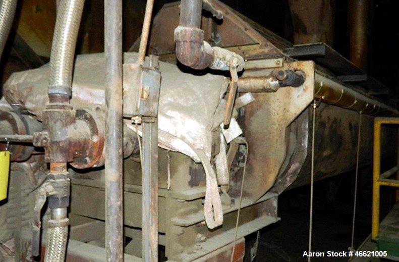 "Used- Denver Twin Screw Holoflite Dryer, Model D2424-6GED, Carbon Steel. (2) 24"" Diameter x 24' long intermeshing cored scre..."