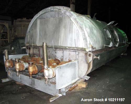 Used- Denver Holo-Flite Processor Dryer, Model Q2424-6-DED. 316L stainless steel material contact parts. 1227 square feet of...