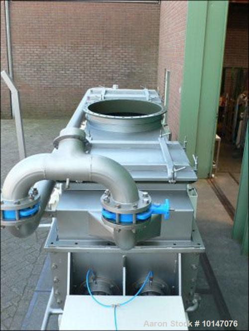 Used- GMF Goudsche Nara 4W Paddle Dryer, 316L stainless steel, capacity 24 cubic feet (680 liter). Trough size diameter 2.6'...