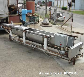 Used- Stainless Steel Groen Continuous Jacketed Screw Blender/Cooker/Dryer