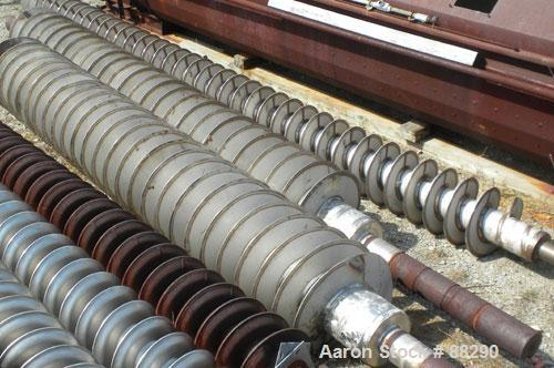"""USED- Holoflite Cored Screw, Stainless Steel. 6"""" diameter shaft x 227"""" long, 24"""" diameter x 154"""" long cored section. Approxi..."""