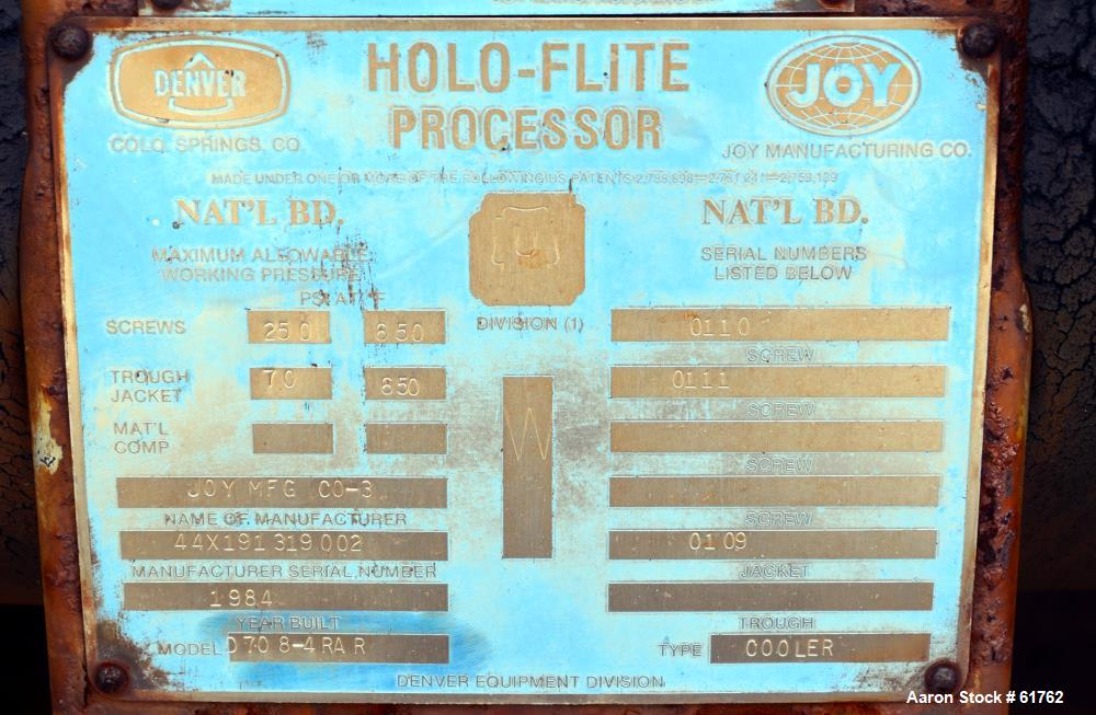 Used- Joy Holo-Flite twin screw processor/cooler, Model D708-RAR