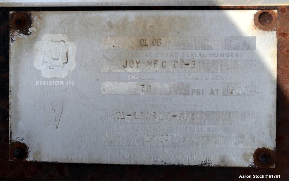 Used- Joy Holo-Flite Twin Screw Processor/Dryer, Model D708-RAR