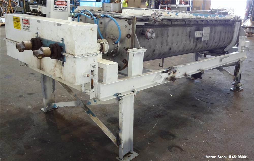 Used- Stainless steel Komline-Sanderson Paddle Dryer/Processor, Model 3W-W