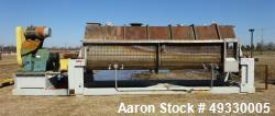 Used-Komline Sanderson NARA Paddle Dryer/Processor, Model NPD-9W-800. 316L stainless steel jacketed trough approximately 228...
