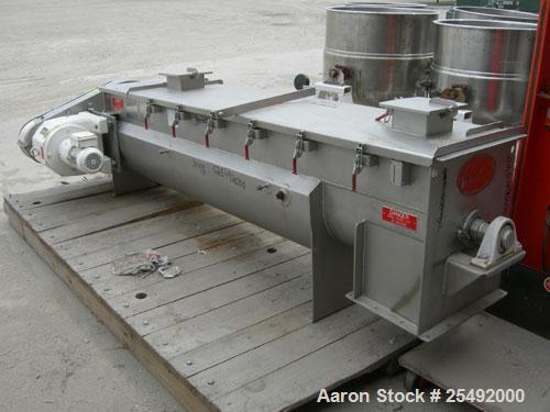"Used- Rietz/Bepex Thermascrew Processor, model TL-16-K3208, 304 stainless steel. (1) 16"" diameter x 7' long screw. Stainless..."