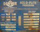 Used- Denver Holo-Flite Processor cooler/dryer, model D2414GED, carbon steel/316 stainless steel. Jacketed trough 166