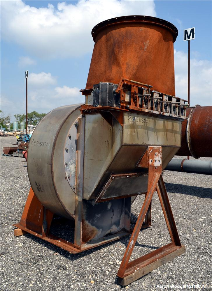 Used- Carbon Steel Triple Pass Rotary Hot Air Dryer