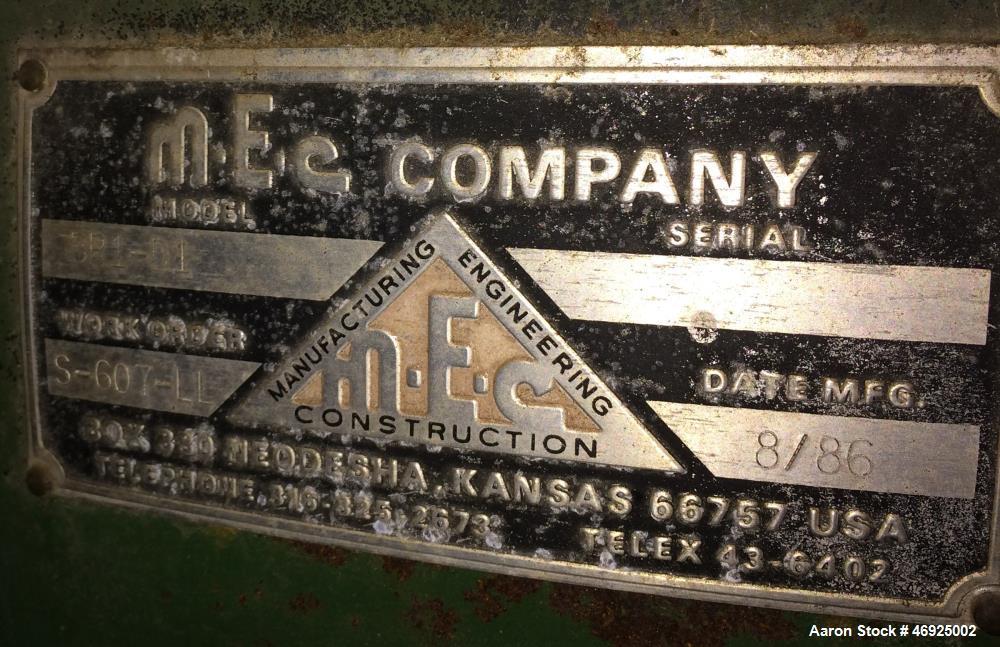 Used- MEC 3-Pass Dryer, Model BR1-D1